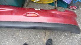 PEUGEOT 206 2001 REAR BUMPER IN BURGANDY