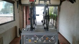 Daxara 127 trailer with cycle carrier accessory kit