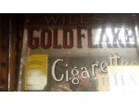 Gold flake mirror