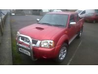 nissan navara crewcab pick up, 2003 registration, covered only 102,000 miles, 2.5 turbo diesel