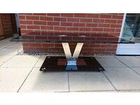 Glass Coffee Table (V Range Black)
