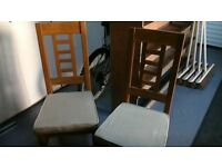 OAK CHAIRS X4 STRONG CONSTRUCTION