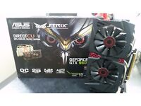 ASUS Strix GTX 960 2GB desktop GPU Used for 1 year for Office work