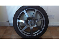 "Subaru Impreza WR1 17"" replica Inovit wheels"