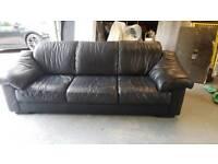 Leather sofa plus optional chair