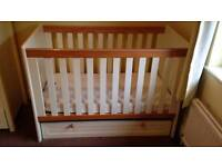 Childrens/baby nursery furniture set up