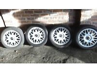 15 inch bbs alloys with tyres