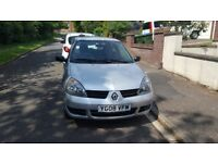2008 Renault Clio 1.2 Campus 3 Dr in Silver New Mot