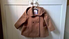 F+F Girls Smart Coat 6-9mth