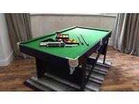 BCE 6ft Flat-Folding Pool & Snooker Table