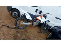 Ktm 250 sxf needs small tlc swap px van Fiesta focus golf etc