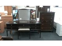 Mahogany Triple Mirrored Dressing Table with a stool by STAG at BHF Glasgow
