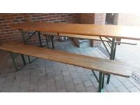 Vintage German Beer Table & benches set dining garden retro antique