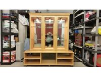 Hi/FI floor stand and large glass mirror display cabinet
