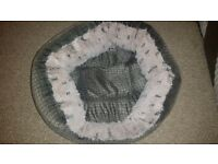 puppy/ small dog bed and coat