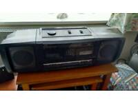 JVC PC W-100 Boom box radio cassette with CD line in for iPod, CD etc