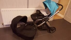 Babystyle Oyster pram pushchair system with extras