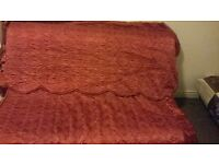 modern stylish maroon double bed spread keep warm bed