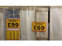 BRAND NEW DOUBLE BED IN WRAPPERS (base and mattress)