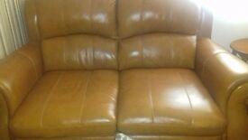 two x two couches full leather
