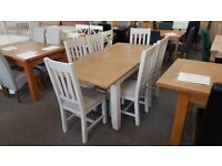 Richmond Oak Extending Dining Table & 6 Chairs Can Deliver