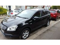 Beautiful black Nissan Qashqai+2, 7 seater car in very good condition. Brand new MOT.