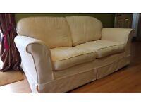 Cream sofa bed