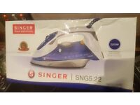 New In Box Singer Steam Iron With Ceramic Sole Plate With 3 Way Smart Auto Off Safety