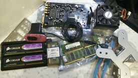 PC CASE - THERMALTAKE BACH / IBM 4810 PC AND MEMORY AND PC PARTS AND WEBCAM BUNDLE