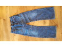 TWO PAIRS OF BOYS BLUE DENIM JEANS AGE 12 & 13 - CASH ON COLLECTION