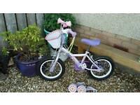 Girls Apollo Petal bike with extras