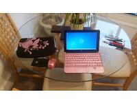 PINK hp mini net book with matching bag and mouse - BARGAIN