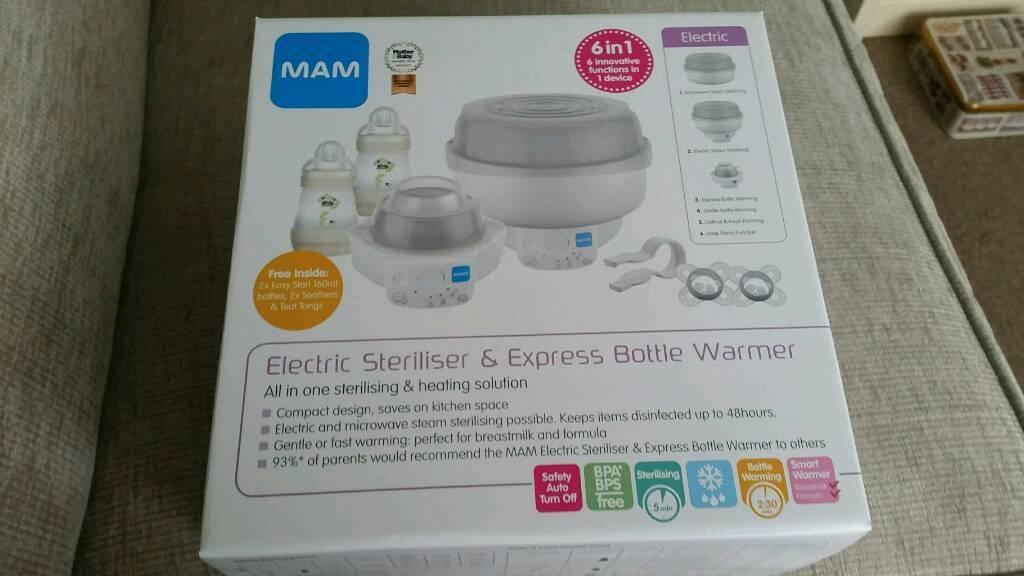 Mam Electric Bottle Warmer *BOTTLE /& BABY FOOD WARMER* GRAY