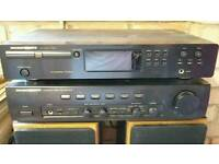Cd player, amp and speakers