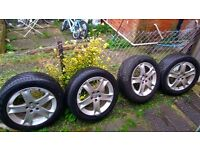 """Genuine PEUGEOT 407 ALLOY WHEEL WITH TYRES 17"""" 215/55R"""