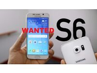 SAMSUNG GALAXY S6, S5 WANTED. CASH WAITING