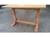 SOLID WOOD FARMHOUSE STYLE TABLE - TOP NEEDS SANDING - PROJECT