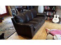 3 seater real Italian leather sofa