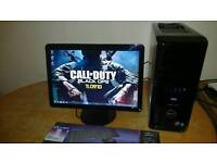 """Save 45 Fast SSD Dell XPS 430 Quad Core Gaming Desktop Computer PC With Dell 21"""" Wides HD 1080"""