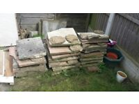 Patio slabs, mostly broken, Red (light) and white - MUST TAKE ALL