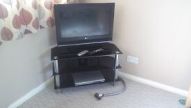 """26"""" LG Freeview & Radio tv, Philips dvd player and TV Stand"""