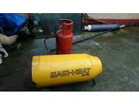 Gas heater, gas bottle included
