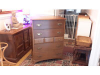 Solid Wood Stag Chest Of Drawers