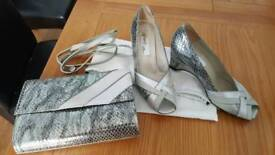 Ladies size 5 shoes and handbag