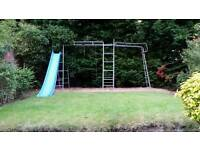 Swing and climbing frame