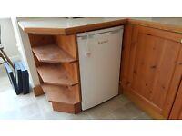 LEC L5010W slim full height under counter larder fridge A+ energy rated