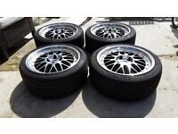 "18"" BBS LM ALLOYS WITH TYRES"