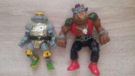 Vintage - TMNT Ninja Turtles figures 1988 x 2