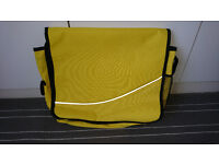 Retro intandem Yellow Laptop Bag