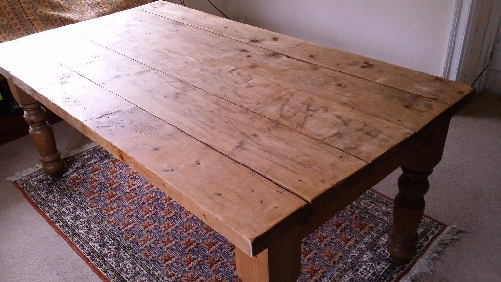 Pleasing Traditional Farmhouse Handmade Plank Kitchen Table With Pdpeps Interior Chair Design Pdpepsorg